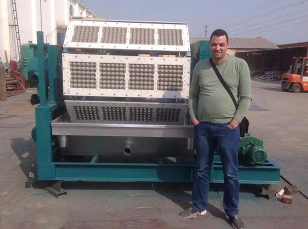 Algeria customer visited Beston professional egg tray machine supplier