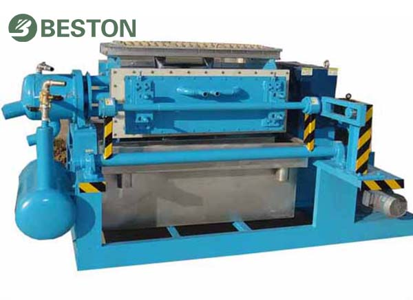 pulping system for four-side egg tray machine