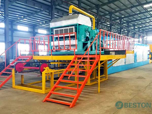 Drying system for large egg tray making machine