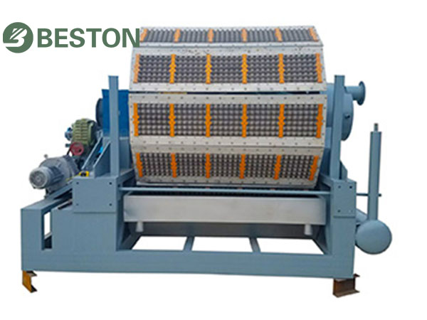 pulping system for large pulp molding machine