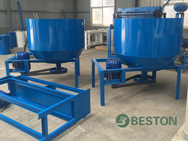 Superior egg tray pulping system for Beston egg tray machine