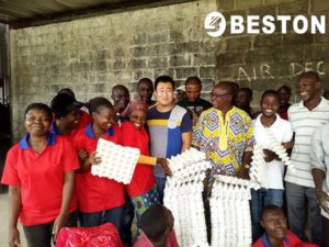 CotedIvoire customers buy pulp molding equipment from Beston
