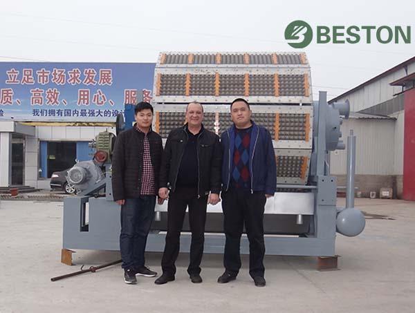 Beston egg tray molding machine supplier