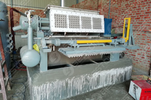BTF4-4 Beston Egg Tray Making Machine Installed in India