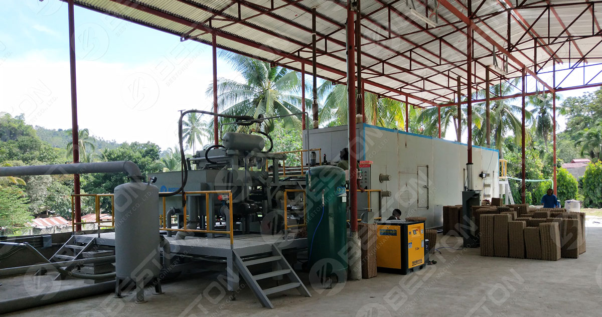 Beston Egg Tray Making Machine with Metal Dryer in the Philippines