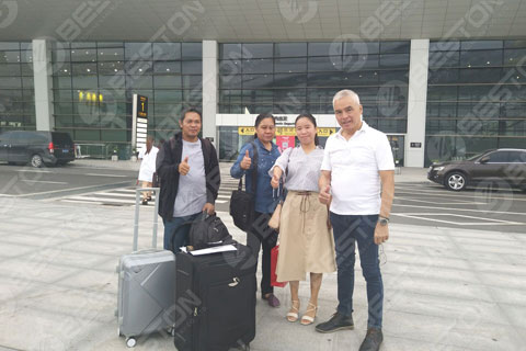 Beston Picked Up the Philippines Customer at the Airport