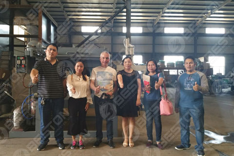 Customers from the Philippines Visited Beston Manufacturing Factory
