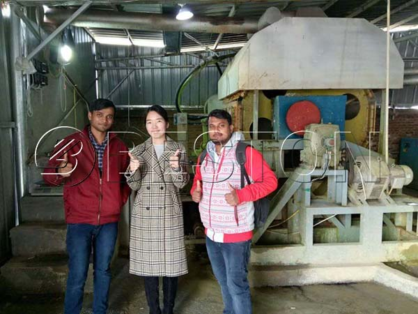 Indian Customers Visited Beston Egg Tray Manufacturing Line