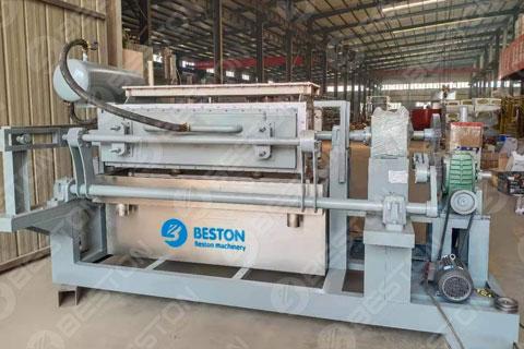 BTF4-4 Egg Tray Making Machine at Beston Manufacturing Factory