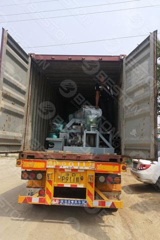 BTF4-4 Egg Tray Manufacturing Machine Shipped to Mali