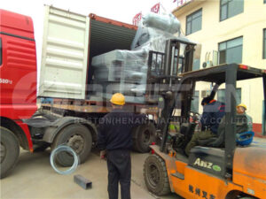 Loading of Egg Tray Machine