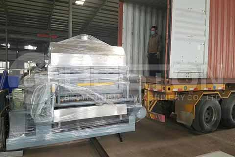 Semi-automatic Egg Tray Machine to Angola