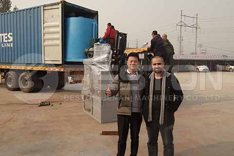 Small Egg Tray Machine to Algeria