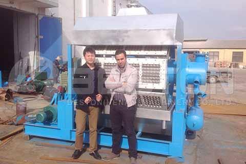 Semi-automatic Egg Tray Machine to Algeria