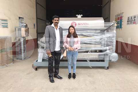 Semi-automatic Egg Tray Machine to India