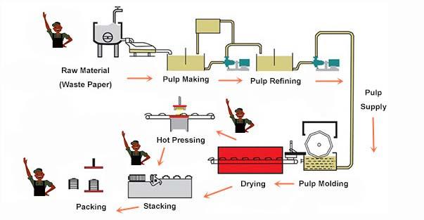 Egg Tray Production Process