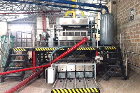 Egg Tray Machine With Metal Dryer
