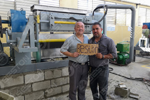 Dominica Customer of Beston Egg Tray Making Machine