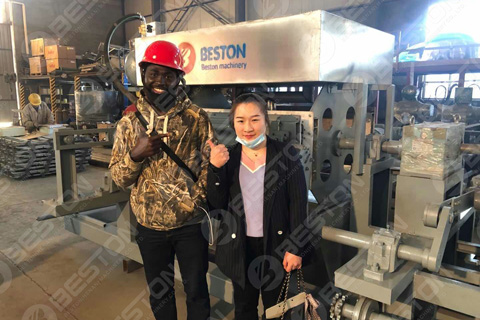 Nigerian Customer of Beston Egg Tray Manufacturing Machine