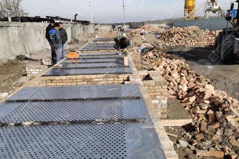 BTF5-8 Egg Tray Making Machine Installed in Kyrgyzstan