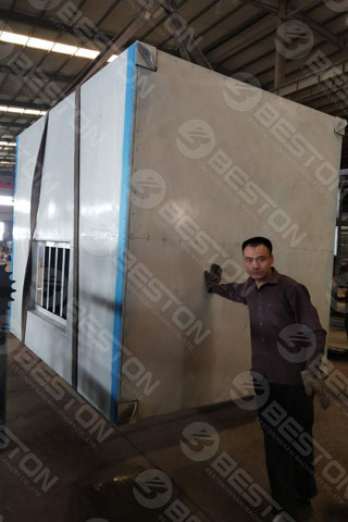 Delivery of Beston Egg Tray Metal Dryer Shipped to Saudi Arabia