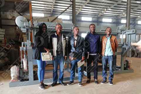 Mali Customer Visited Beston and Ordered Manual Egg Tray Equipment