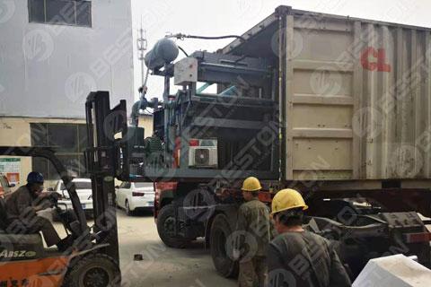 BTF1-3 Egg Tray Making Machine Shipped to Zambia