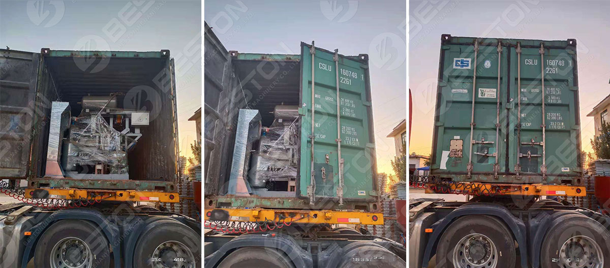 BTF1-4 Egg Tray Making Machine Shipped to Zambia