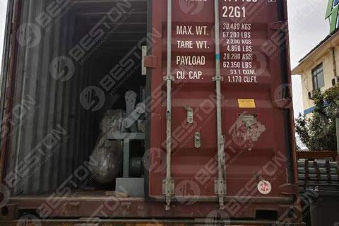 BTF3-4 Egg Tray Making Machine Shipped to Zambia