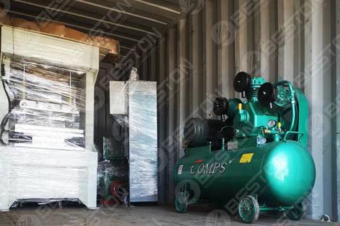 A Set of Egg Tray Machine Shipped to Bangladesh