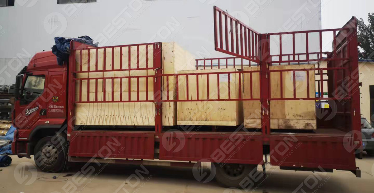 BTF1-4 Packed Beston Egg Tray Machine Shipped to Peru