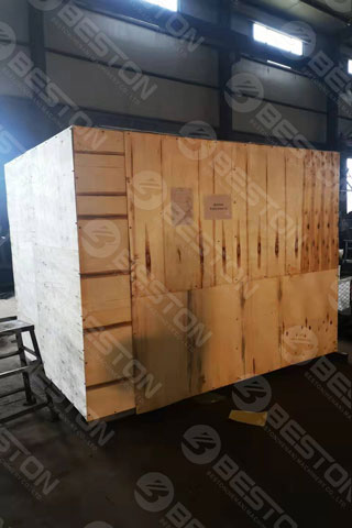 BTF1-4 Packed Egg Tray Making Machine Shipped to Peru