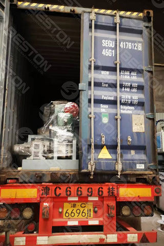 BTF4-4 Beston Cup Tray Holder Machine Shipped to Colombia