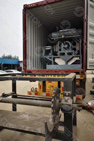 BTF4-8 Beston Automatic Egg Tray Machine Shipped to Senegal