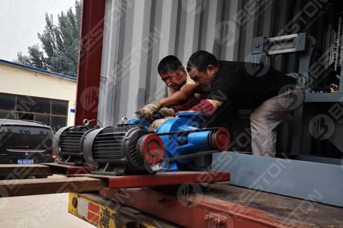 Reducer of Egg Tray Machine Shipped to Senegal