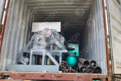 BTF4-4 Egg Tray Making Machine Shipped to Ghana
